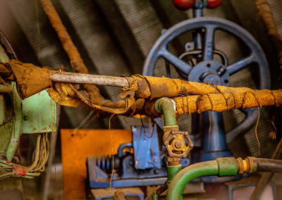 Detail from a stationary engine